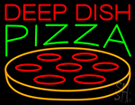 Deep Dish Pizza Neon Sign