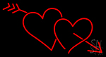 Heart With Red Arrow Neon Sign