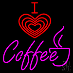 I Love Coffee Hot Neon Sign
