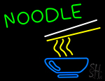Noodle With Logo Neon Sign