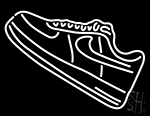 Shoe Icon Neon Sign