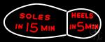 Soles Heels In 15 Min Neon Sign