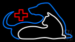 Vet Cat Dog Logo Neon Sign