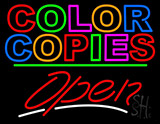 Fax & Copies Open Neon Signs