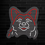 Dog Grooming Red Oval Contoured Clear Backing Neon Sign