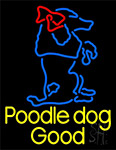 Poodle Dog Logo Neon Sign