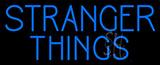 Blue Stranger Things Logo Neon Sign