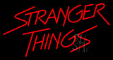 Red Stranger Things Logo Neon Sign