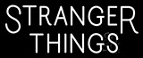 White Stranger Things Logo Neon Sign