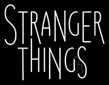 White Stranger Things Neon Sign