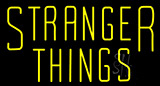 Yellow Stranger Things Neon Sign