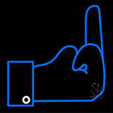 Middle Finger Neon Sign