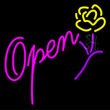 Open Flower Neon Sign