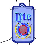 Miller Lite Beer Can Neon Sign With Backing