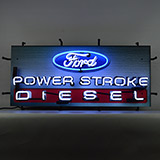 Ford Power Stroke Diesel Neon Sign With Backing