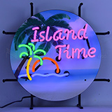 Island Time Junior Neon Sign