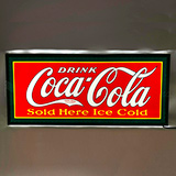 Slim LED Drink Coca Cola Sold Here Ice Cold Slim LED Sign