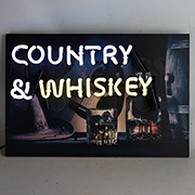 Junior Country and Whiskey Neon Sign