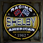 Shelby Racing Round Neon Sign In 36 inches Steel Can