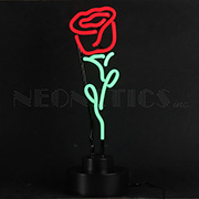 Red Rose Neon Sculpture