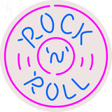 Rock And Roll Record Neon Sign 1