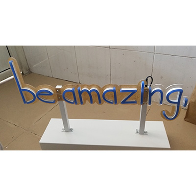 Neon Flex Sign with Stand Backing