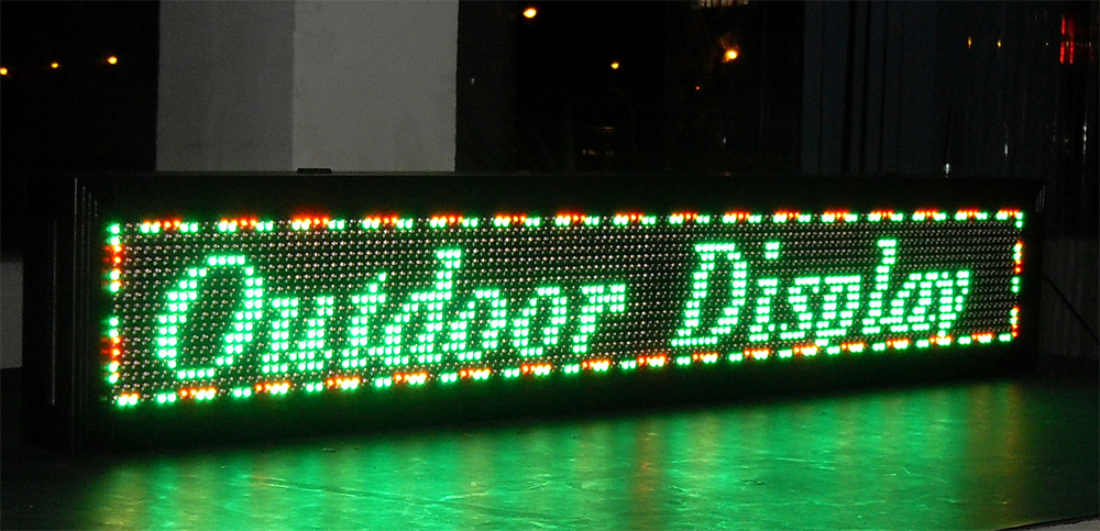 Semi-outdoor Tri-color Led sign