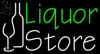 Custom Green Liquor Store Neon Sign 1