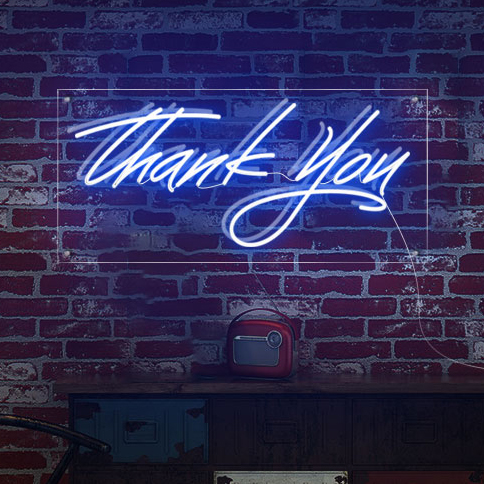 Thank You LED Neon Sign