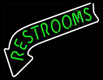 Restrooms Neon Sign