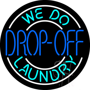 We Do Drop Off Laundry Neon Sign