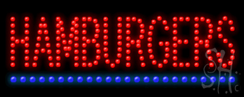 Hamburgers Led Sign