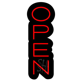 Open Contoured Black Backing Neon Sign