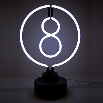 8 Ball Neon Sculpture