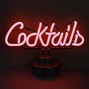 Cocktails Neon Sculpture
