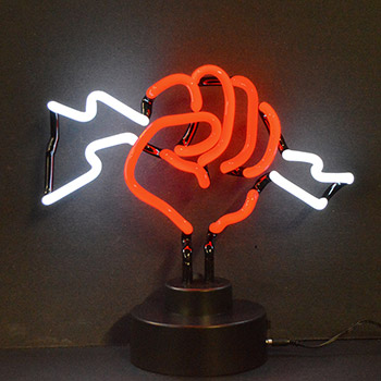 Fist With Lightning Neon Sculpture
