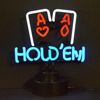 Hold Em Poker Neon Sculpture