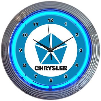 Chrysler Pentastar 15 Inch Neon Clock