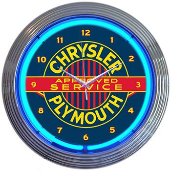 Chrysler Plymouth 15 Inch Neon Clock