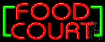 Food Court Neon Sign