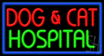 Dog And Cat Hospital Neon Sign