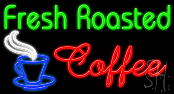 Fresh Roasted Coffee Neon Sign
