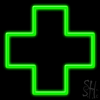 Cross Logo Neon Sign