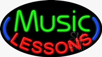 Music Lessons Neon Sign