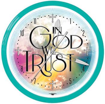 In God We Trust 20 Inch Neon Clock