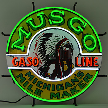 Gas - Musgo Gasoline Neon Sign