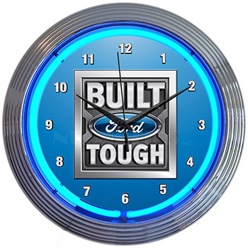 Ford - Built Ford Tough Neon Clock