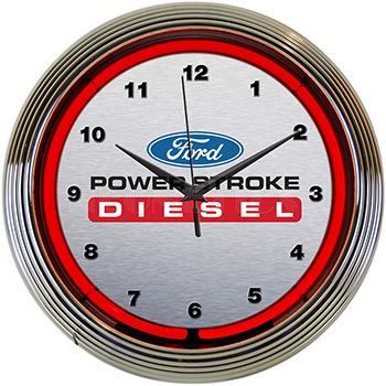 Ford Power Stroke Diesel Neon Clock