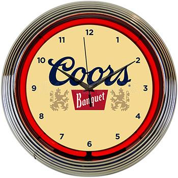 Coors Banquet Beer Neon Clock