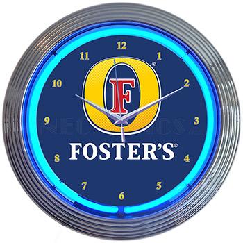 Fosters Beer Neon Clock